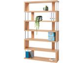 Bücherregal RENA mit 6 Fächern in buchefarben, Höhe 191 cm