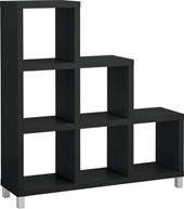 Stufenregal KNOX mit 6 Fächern  in schwarz