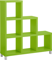 Stufenregal KNOX mit 6 Fächern in grün