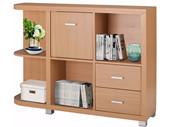Links Bücherregal VEIT 2 Schubladen 1 Tür in Buchenfarben