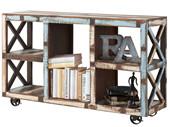 Sideboard IZZY auf Rollen aus Massivholz, Breite 145 cm