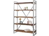 Bücherregal CROWN aus Treibholz mit Metallgestell,120x179 cm