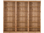3-teilige Bücherwand ANGEL aus Kiefer massiv, gebeizt geölt