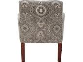 Sessel JAMAICA mit Armlehne aus Webstoff in grau/weiß