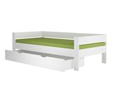 Kinderbett JINNY mit Bettkasten aus MDF in weiß
