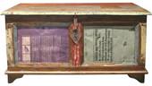 Truhentisch COSTARICA aus Massivholz in braun lackiert