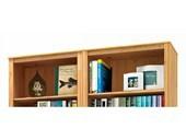 2-teilige Bücherwand ANGEL aus Kiefer massiv, gebeizt geölt