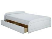 Bett RONJA 160x200 weiß lasiert mit 1x Bettkasten-Set