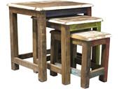 3er Tischset INDIA aus Akazie und Mangoholz