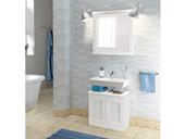 2-teiliges Badezimmerset MINNA II Kiefer massiv in weiß