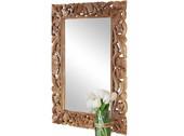 Spiegel PREMY aus Mangoholz mit aufwendiger Schnitzerei