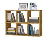 Bücherregal 2x3er COMFORT in Eiche massiv, geölt