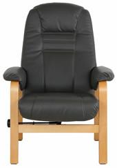 Relaxsessel AVID aus PU Leder in schwarz