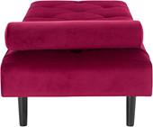 Tagesbett FINNEAS aus Samtbezug rot, Metallgestell schwarz