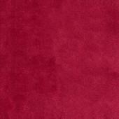Armsessel mit Hocker DOM, Samtbezug in rot mit Knopfheftung