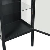 1-trg. Schrank ARIES mit Glastür aus Metall, 140 cm hoch