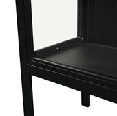 2-trg. Standvitrine ARIES aus Metall in schwarz, 140 cm