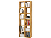 Bücherregale COMFORT 2x 6 offene Fächer, Eiche, geölt