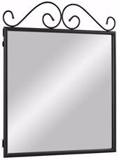 Spiegel ROSE aus Metall in schwarz