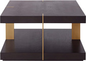Couchtisch VERMONT 70x70 cm braun/messing, MDF Metall