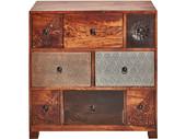 Kommode MOLLY mit 8 Schubladen aus Akazie, Breite 85 cm