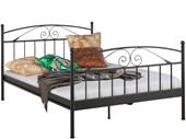 Bett FLORENZ 140x200 cm aus Metall in schwarz