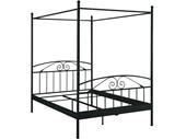 Himmelbett FLORENZ aus Metall in schwarz, 180x200 cm