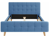 Polsterbett LIVIA 140x200 cm Polyester in blau