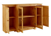 Sideboard CONNY Breite 150 cm Kiefer massiv, gebeizt geölt