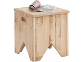 Truhe MILA 40 x 40 cm Kiefer massiv in creme