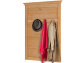 Garderobenpaneel SASHA aus Kiefer massiv gebeizt geölt