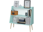 Bücherregal GIGI im skandinavischen Design in cool mint
