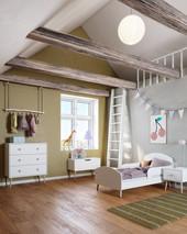 Truhe GIGI im skandinavischen Design in weiß