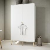 2-trg. Kleiderschrank GIGI mit Schublade in weiß, 160 cm