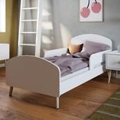 Kinderbett GIGI im skandinavischen Design weiß, 70x140 cm