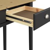 Schreibtisch LORCA mit 2 Schubladen in schwarz/natur