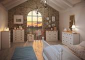 Kommode LORCA 4 große & kleine Schubladen weiß & natur