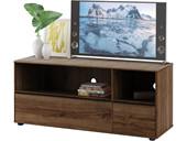 TV Lowboard EXTON mit 2 Schubladen in walnussfarben