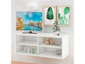TV Lowboard AIR SET II 4 Schubladen in weiß, schwebend