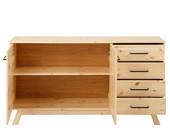 Sideboard NORDEA 4 Schubkästen Kiefer massiv natur lackiert