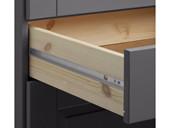 Hochschrank ROMAN 2 Türen aus Kiefer in grau
