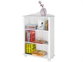 Bücherregal Landhausstil ANNETTE klein Kiefer massiv in weiß