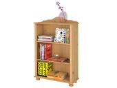 Bücherregal ANNETTE klein, Kiefer Massivholz, gebeizt geölt