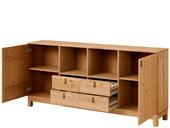 Sideboard ELKA aus Kiefer in gebeizt geölt, Breite 180 cm