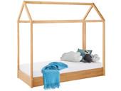 Kinderhausbett ELLA aus Kiefer massiv in gebeizt geölt