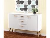 2-trg. Sideboard PANDORA in weiß im Skandinavischen Design