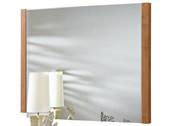 Spiegel CHICKY 80x60 cm in weiß / ahornfarben