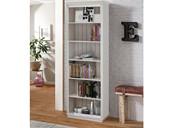Bücherregal ANGEL 223 cm hoch aus Kiefer massiv in weiß