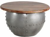 Moderner Couchtisch SWAN aus Massivholz und Metall