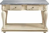 Konsolentisch RABI mit Blechverzierung und 2 Schubladen